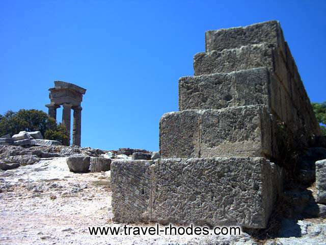 Apollon temple on Monte Smith hill (Rhodes Acropolis)